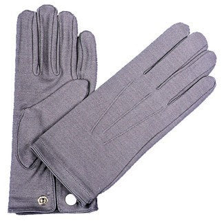 Morris Gloves Nylon W Snap Mens Grey - MaxWigs