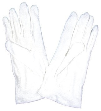 Morris Gloves White Dotted Palms - MaxWigs
