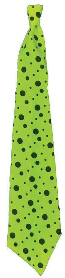 Morris Tie Neon Long Lime Green - MaxWigs