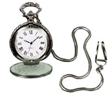 Morris Pocket Watch W Chain Silvrtone - MaxWigs