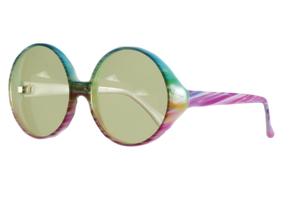 Morris Glasses Peace Tie-dye Multi - MaxWigs