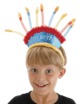 Morris Birthday Candles Headband - MaxWigs