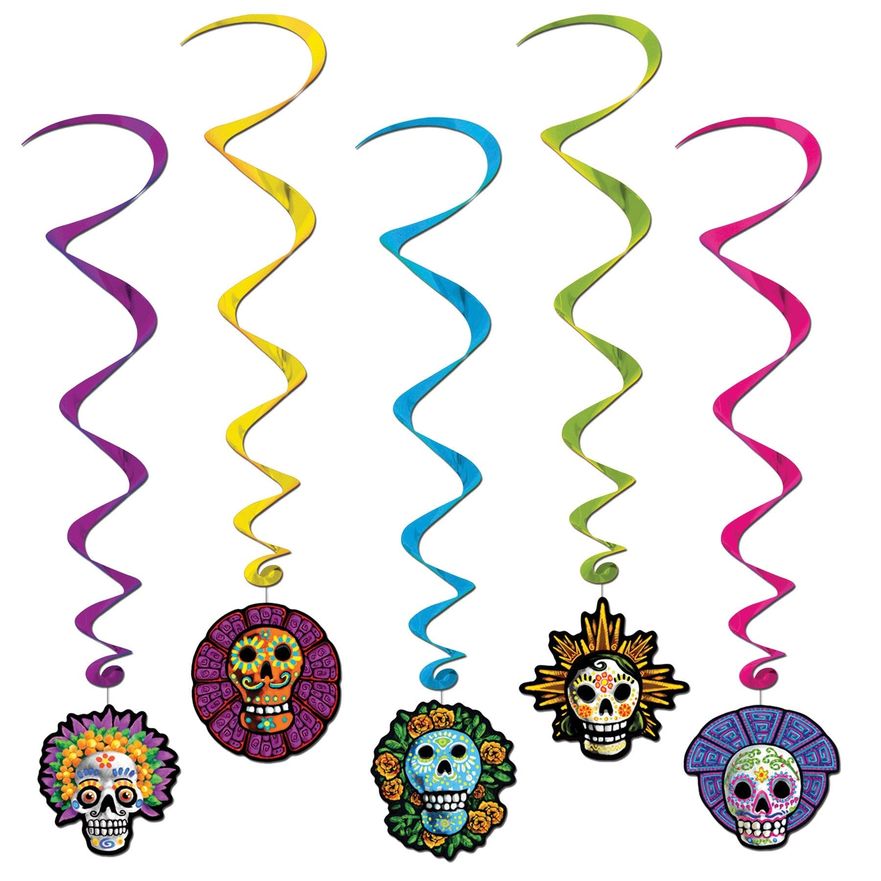 Morris Day Of The Dead Whirls - MaxWigs