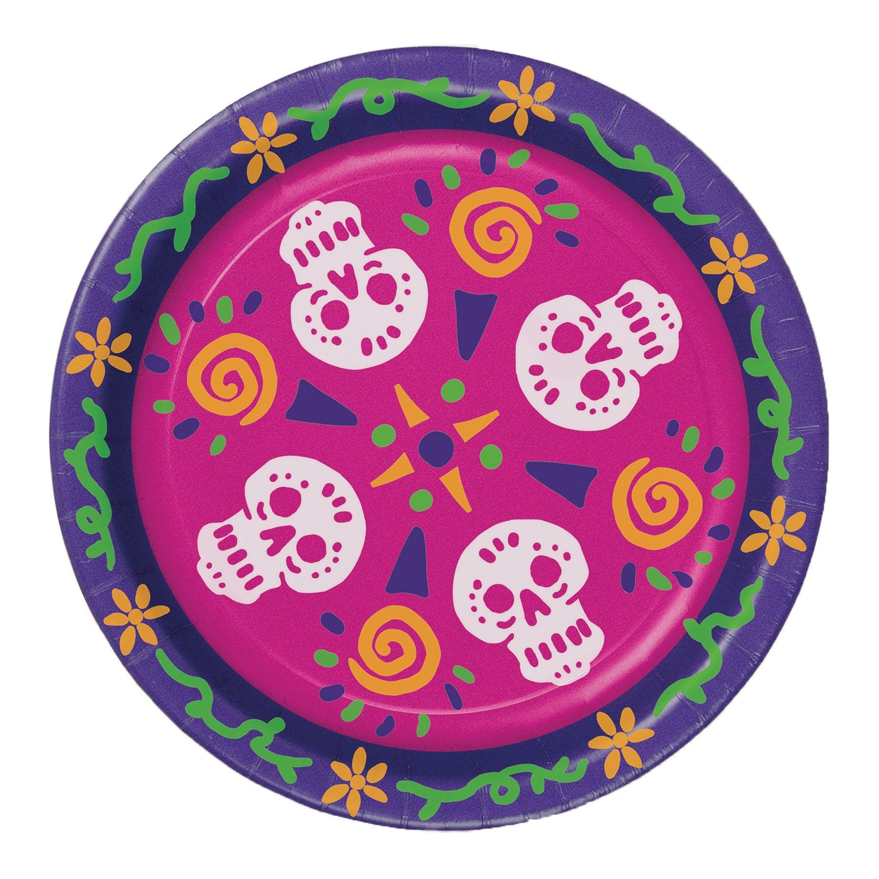 Morris Day Of The Dead Plates - MaxWigs
