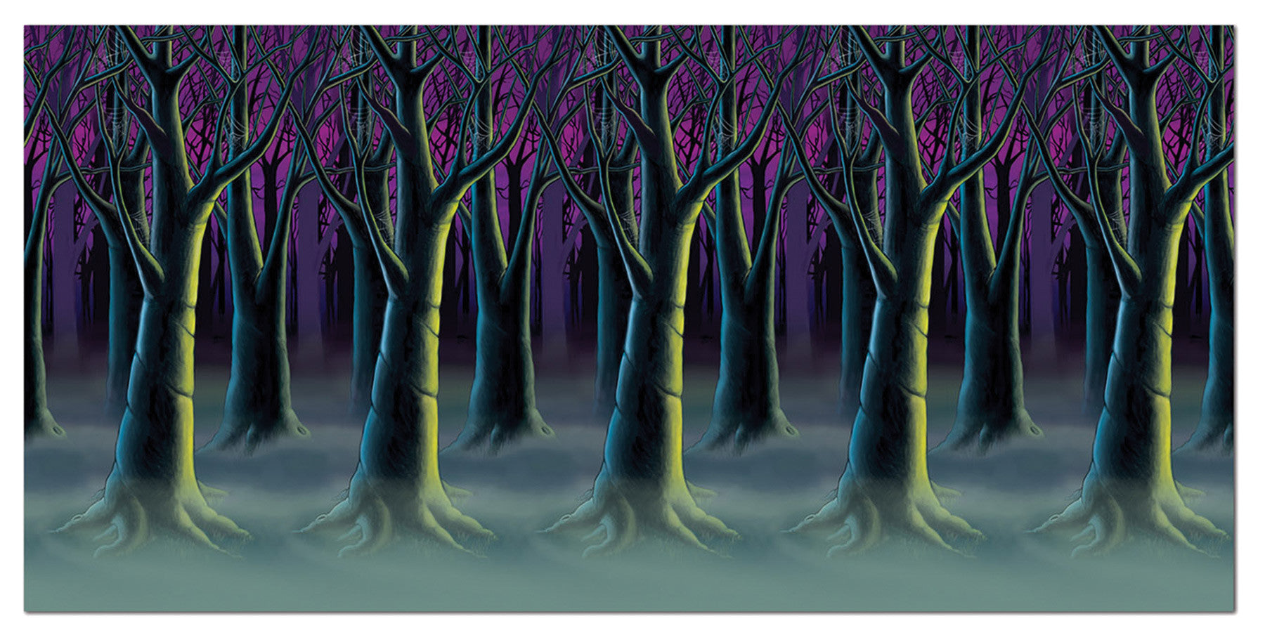 Spooky Forest Trees Backdrop