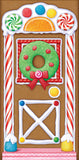 Morris Gingerbread House Door Cover - MaxWigs
