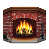 Morris Brick Fireplace Standup - MaxWigs
