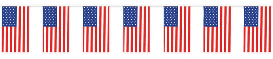 Morris Outdoor American Flag Banner - MaxWigs