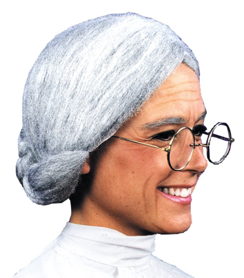 Morris Wig Old Maid Grey - MaxWigs