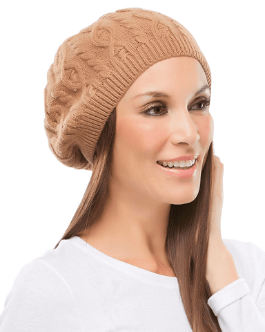 Jon Renau Cable Knit Beret - MaxWigs