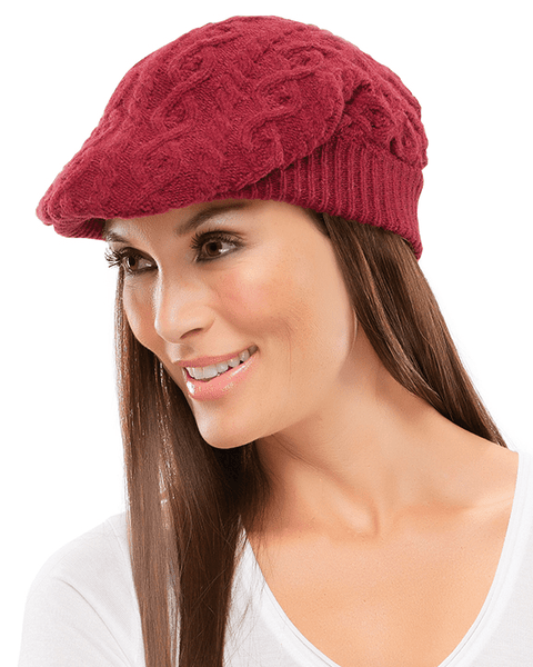 Jon Renau Cable Knit Gatsby Hat - MaxWigs