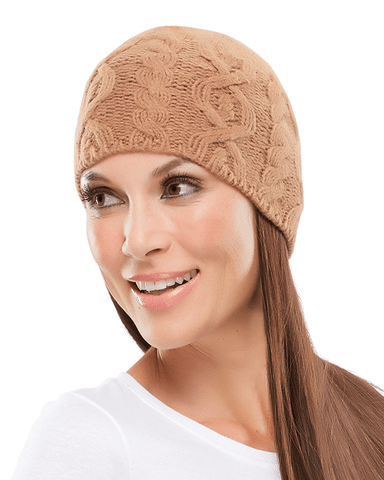 Jon Renau Cable Knit Beanie by Jon Renau Headwear - MaxWigs
