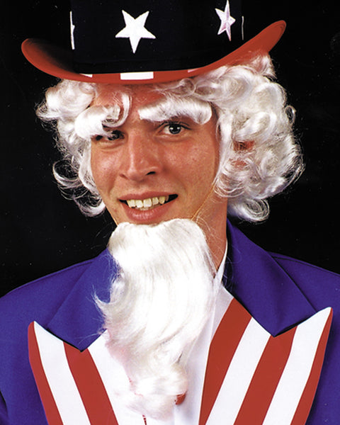 Uncle Sam Wig Goatee Eyebrow Set
