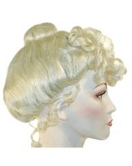 Lacey Costume Cinderella Maid Mrs Claus Theater Wig - MaxWigs