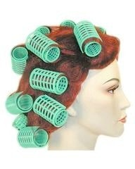 Lacey Costume 1960s Curlers in Hair Style Wig - MaxWigs