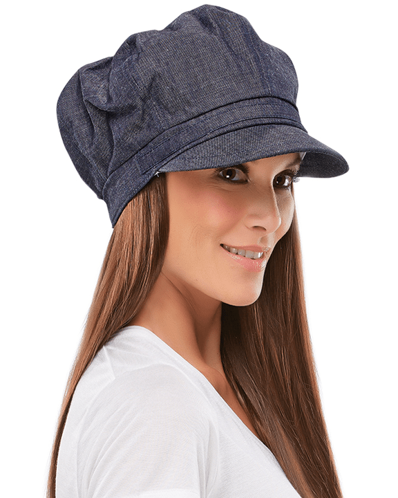 Jon Renau Denim Newsboy Cap - MaxWigs
