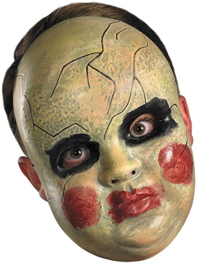 Morris Smeary Doll Face Mask - MaxWigs