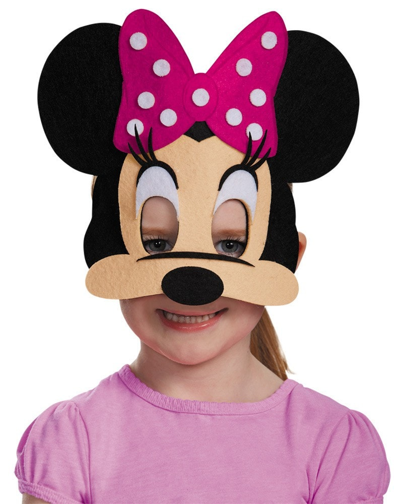 Morris Minnie Mouse Pink Felt Mask - MaxWigs