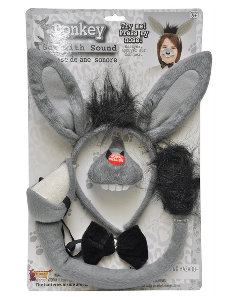 Morris Donkey Set with Sound - MaxWigs
