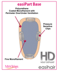 "easiPart 18"" Heat Resistant Volumizer Extension Clip In Monofilament by EasiHair Hairpieces"