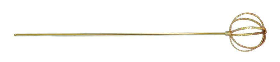 Morris Globe Scepter 22 Inches Gold - MaxWigs