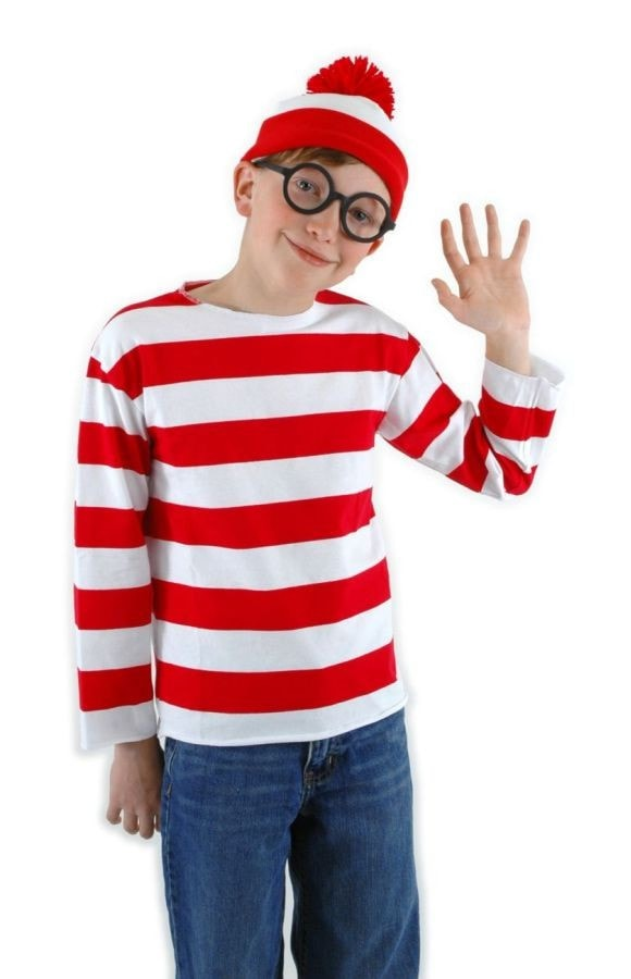 Morris Where's Waldo Kit Youth Lg/xl - MaxWigs