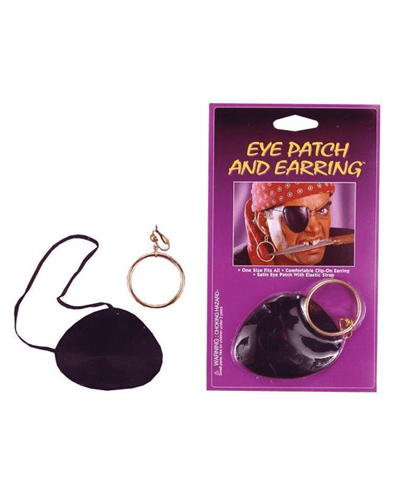 Morris Eye Patch Satin with Earring - MaxWigs