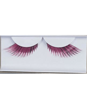Morris Eyelashes Feather Pink - MaxWigs