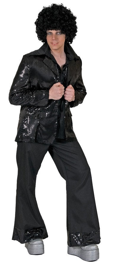 Morris Disco Jacket Black Adult Std - MaxWigs