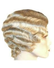 Lacey Costume Fingerwave Short Flapper 1920s Marcel Wig CLEARANCE - MaxWigs