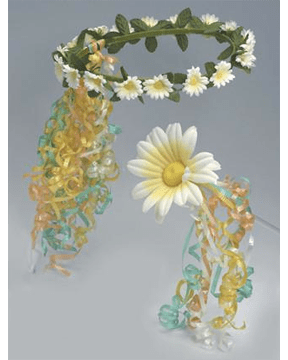 Morris Flower Headband Scepter Set - MaxWigs