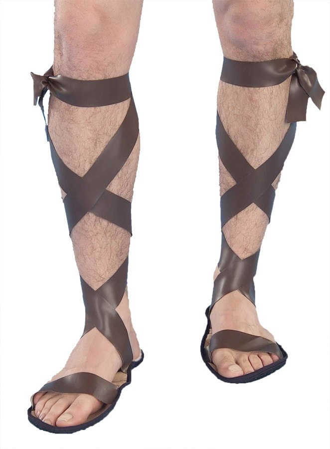 Morris Roman Sandals Adult - MaxWigs
