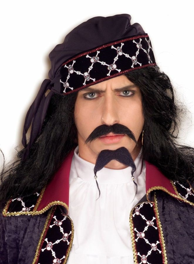 Morris Pirate Mustache And Beard - MaxWigs