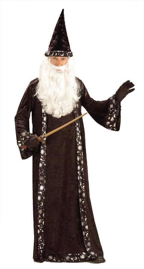 Morris Wizard Hat And Robe - MaxWigs
