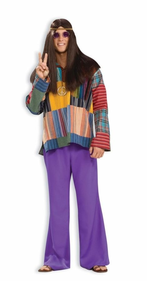 Morris Bell Bottom Pants Purple - MaxWigs