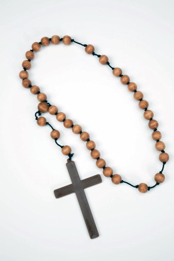 Morris Monk Cross W Wooden Beads - MaxWigs