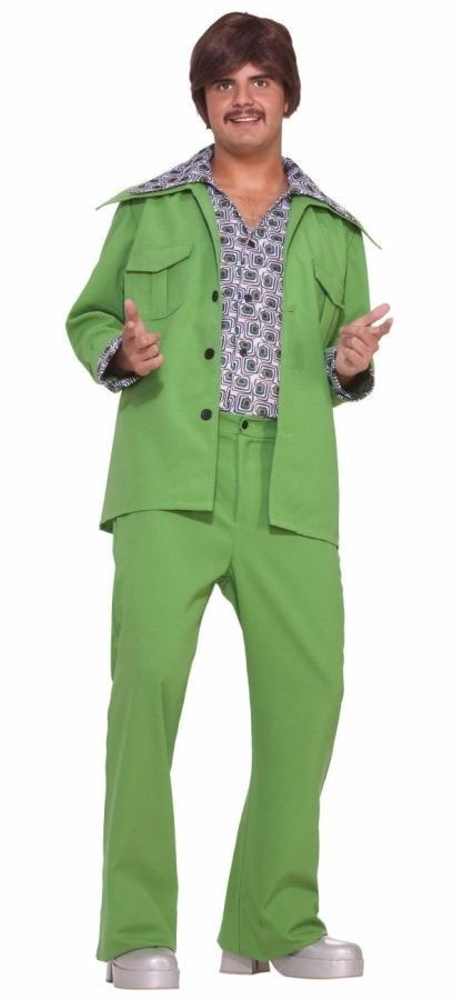 Morris Leisure Suit 70's Green - MaxWigs