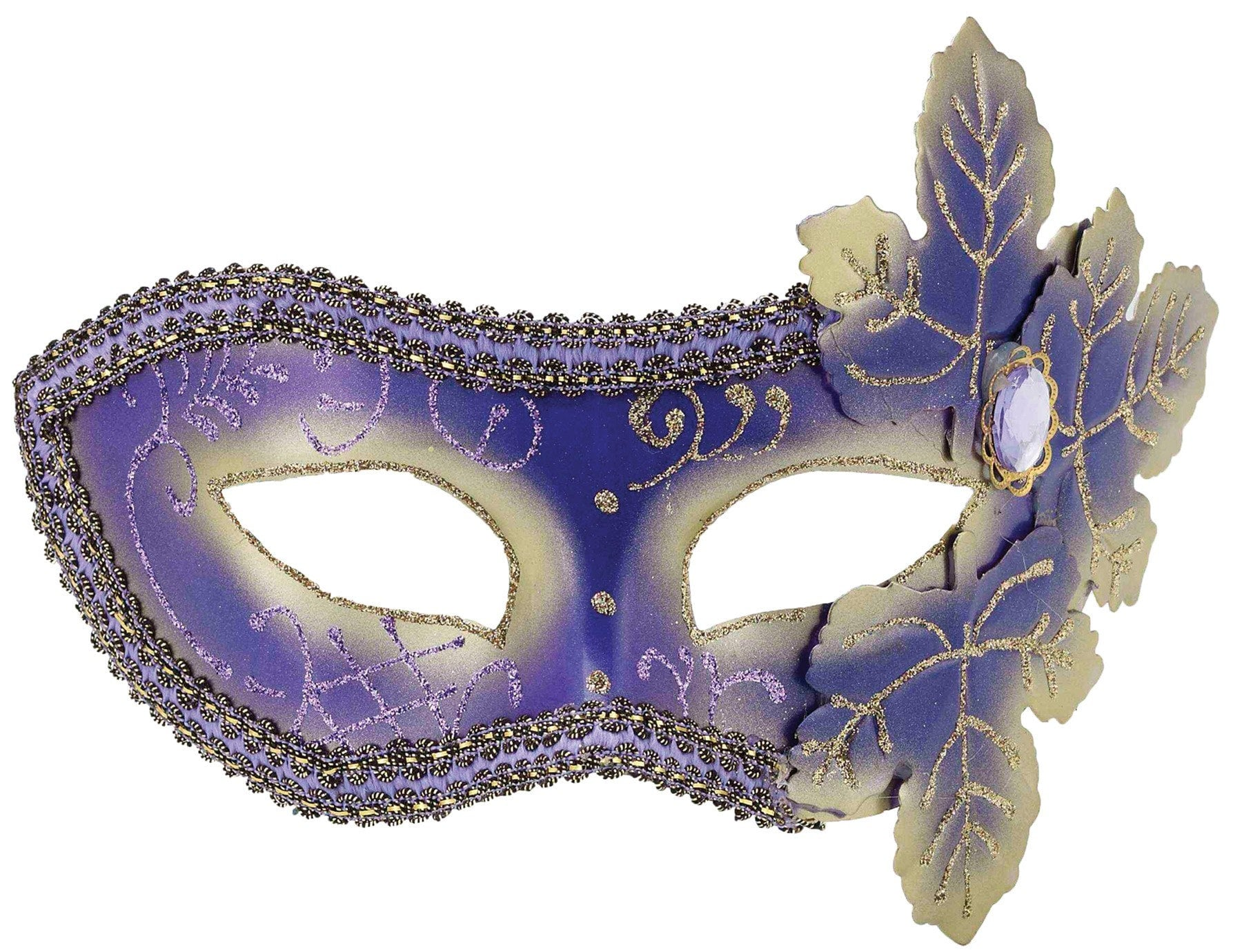 Morris Purple Venetian Mask - MaxWigs