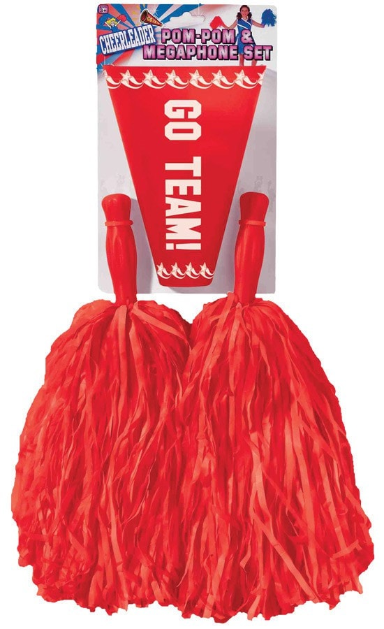 Morris Pom Pom Set Red - MaxWigs
