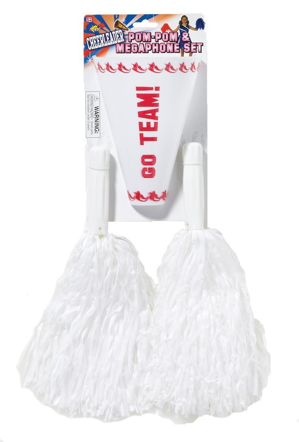 Morris Pom Pom Set White - MaxWigs