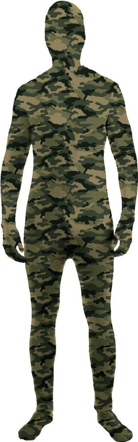 Morris Skin Suit Camo Child Large - MaxWigs