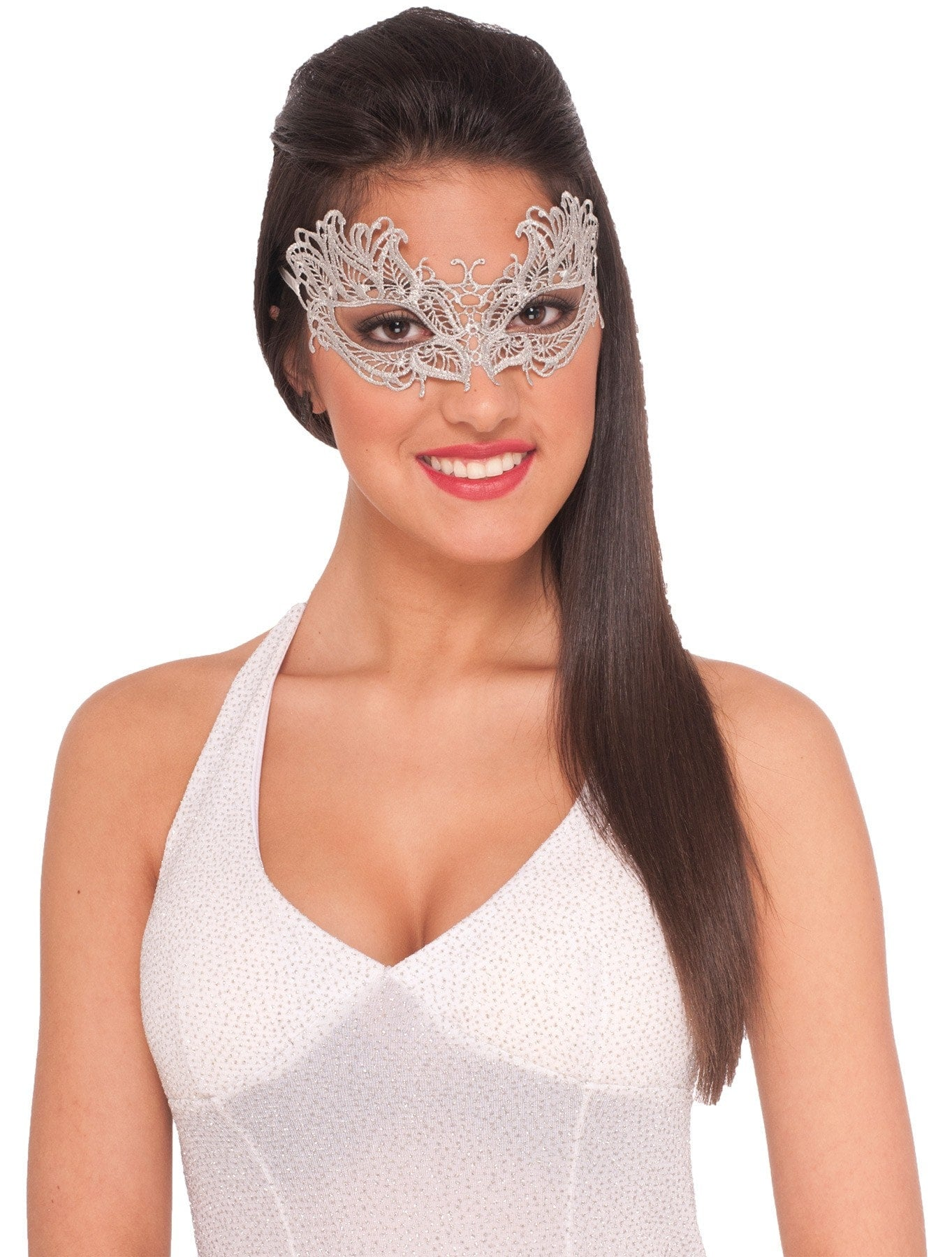 Morris Lace Mask Silver - MaxWigs