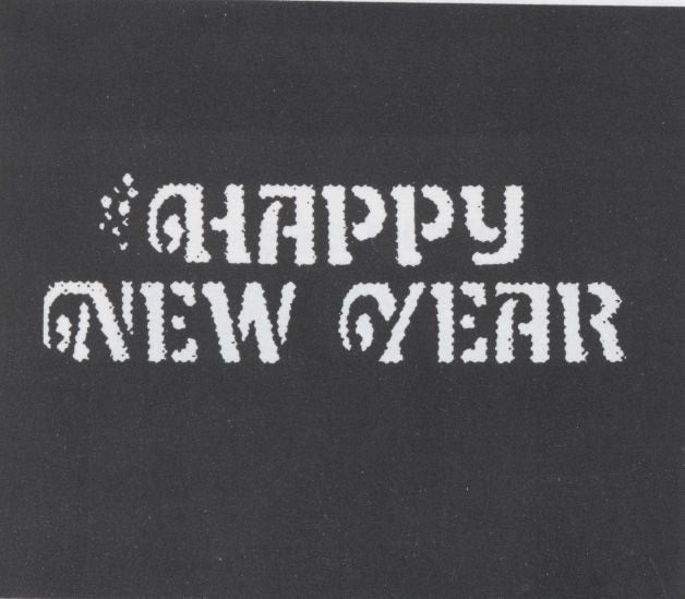 Morris Stencil Happy New Yr Stainl - MaxWigs