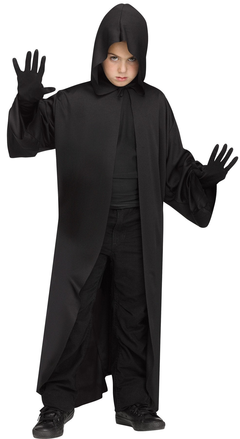 Morris Hooded Robe Black Ch Os - MaxWigs