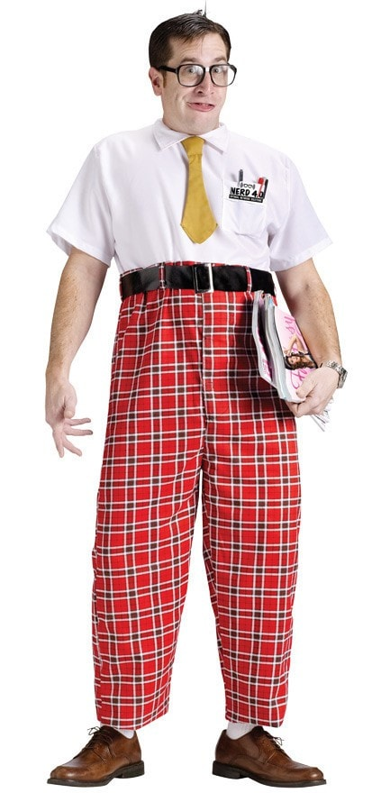 Morris Nerd 50's Adult Costume - MaxWigs