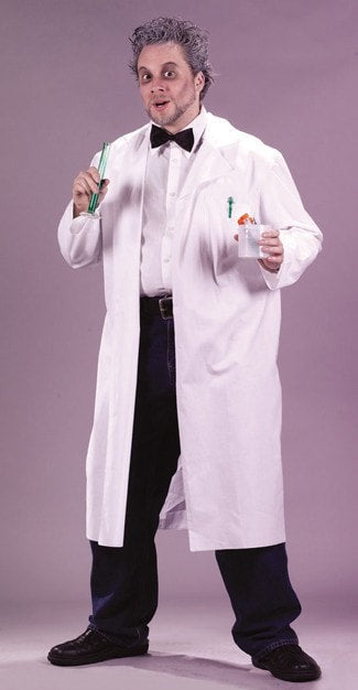 Morris Lab Coat Mad Scientist - MaxWigs