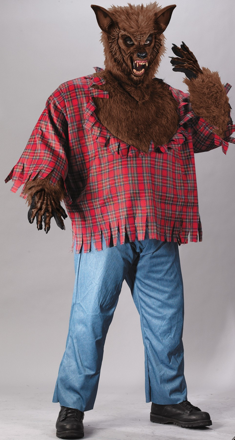 Morris Werewolf Costume Plus Brown - MaxWigs