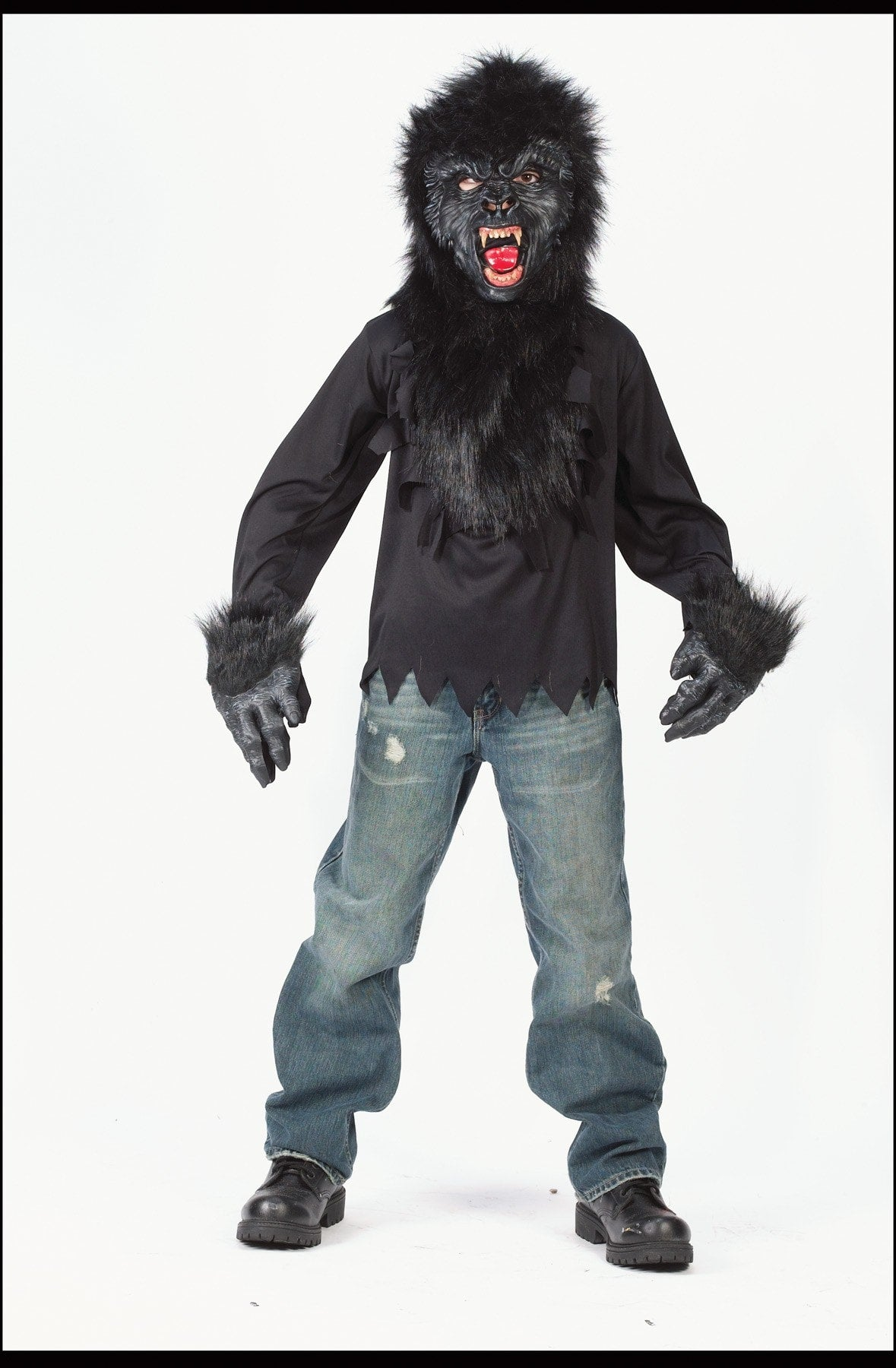 Morris Gorilla Mask Gloves Shirt7to10 - MaxWigs