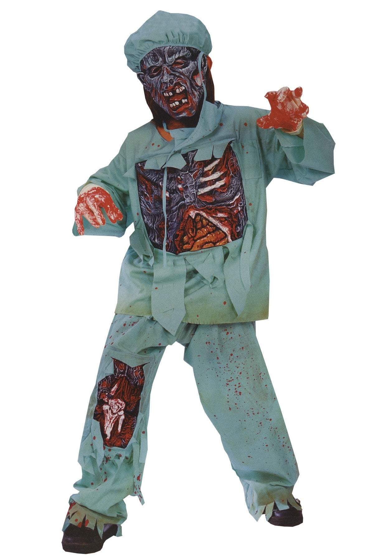 Morris Zombie Doctor Child Large - MaxWigs