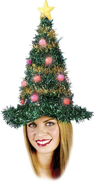 Morris Christmas Tree Hat Light Up - MaxWigs